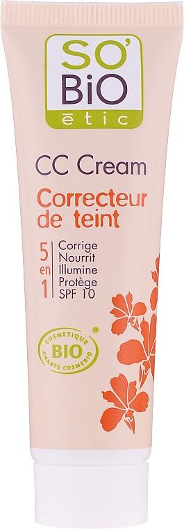 So'Bio Etic CC Cream - CC crème bio pour visage SPF 10 — Photo N1