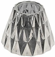 Parfums et Produits cosmétiques Abat-jour pour bougie moyenne - WoodWick Geometric Silver Shade