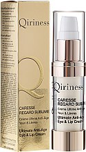 Parfums et Produits cosmétiques Crème ultime anti-âge yeux et lèvres - Qiriness Caresse Regard Sublime