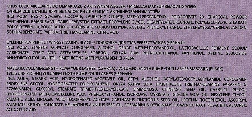 Kit de maquillage(mascara/9ml + eyeliner/5g + lingettes démaquillantes/15pcs) - Joko Makeup Beauty Box  — Photo N6