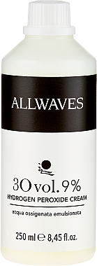 Crème oxydante 9% (usage professionnel) - Allwaves Cream Hydrogen Peroxide 9%