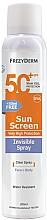 Parfums et Produits cosmétiques Crème solaire pour visage et corps - Frezyderm Sun Screen Invisible SPF50+ Spray