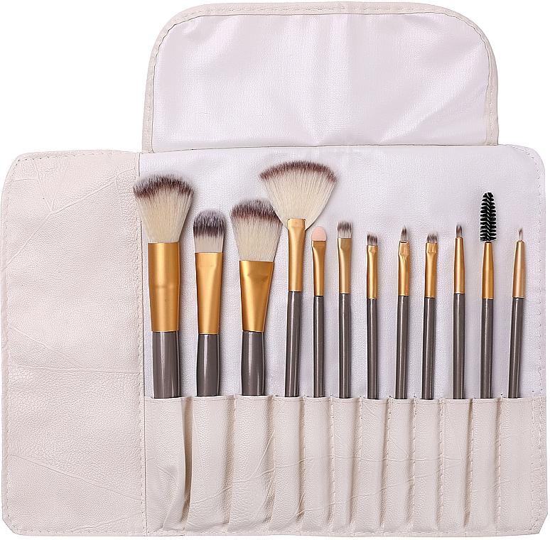 Kit pinceaux de maquillage dans étui,12pcs - Lewer