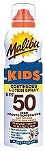 Parfums et Produits cosmétiques Lotion spray solaire waterproof à l'aloe vera - Malibu Sun Kids Continuous Lotion Spray SPF50