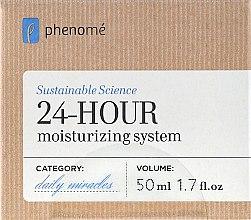Parfums et Produits cosmétiques Crème à l'huile d'amande douce et aloe vera pour visage - Phenome 24 Hour Moisturizing System Cream