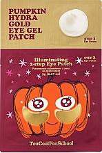 Parfums et Produits cosmétiques Patchs hydrogel en deux étapes à l'extrait de citrouille et or colloïdal pour yeux - Too Cool For School Pumpkin Hydra Gold Eye Gel Patch