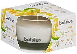 Parfums et Produits cosmétiques Bougie parfumée en verre, Mangue et Bergamote, 50/80 mm - Bolsius True Moods Candle