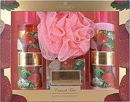 Parfums et Produits cosmétiques Cassardi Fruit Fraise et Grenade - Set(lotion corps/250ml + gel douche/250ml + sels de bain/100g + fleur de bain)