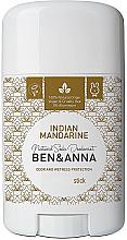 Parfums et Produits cosmétiques Déodorant stick naturel au bicarbonate de soude Mandarine indienne - Ben & Anna Natural Soda Deodorant Indian Mandarine