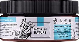 Parfums et Produits cosmétiques Masque à l'extrait de sauge et à la caféine pour cheveux - Favorite Nature Hair Growth Accelerating Mask Sage & Caffeine