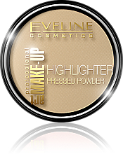 Parfums et Produits cosmétiques Eveline Cosmetics Highlighter Pressed Powder Art Professional Make-up - Poudre compacte illuminatrice