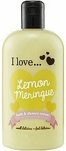 Parfums et Produits cosmétiques Crème de bain et douche, Tarte au citron - I Love... Lemon Meringue Bath And Shower Cream