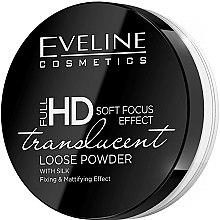 Parfums et Produits cosmétiques Poudre libre matifiante avec soie - Eveline Cosmetics Full HD Soft Focus Translucent Loose Powder