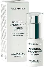 Parfums et Produits cosmétiques Crème bio lissante et anti-rides pour le contour des yeux - Madara Cosmetics Time Miracle Wrinkle Smoothing Eye Cream