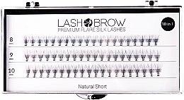 Parfums et Produits cosmétiques Faux-cils individuels - Lash Brown Premium Flare Silk Lashes Natural Short