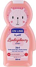 Parfums et Produits cosmétiques Gel nettoyant pour visage, corps et cheveux Bonbons - On Line Le Petit Candy 3 In 1 Hair Body Face Wash