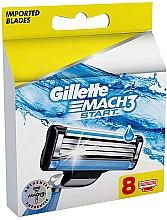 Parfums et Produits cosmétiques Lames de rechange pour rasoir, 8pcs - Gillette Mach3 Start