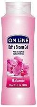 Parfums et Produits cosmétiques Gel douche et bain à l'orchidée et soie - On Line Balance Bath & Shower Gel