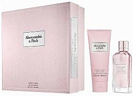 Parfums et Produits cosmétiques Abercrombie & Fitch First Instinct - Coffret (eau de parfum/50ml + émulsion corps/100ml)