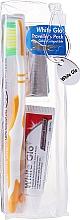 Parfums et Produits cosmétiques White Glo Travel Pack - Set de voyage, orange (dentifrice/24g + brosse à dents/1 + cure-dents/8)