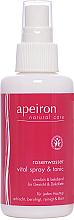 Parfums et Produits cosmétiques Spray d'eau rose vitalisant pour visage et décolleté - Apeiron Rose Water Vital-Spray