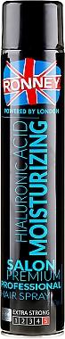 Laque à l'acide hyaluronique pour cheveux, fixation extra forte - Ronney Hyaluronic Moisturizing Hair Spray