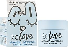 Gel de soin à l'acide hyaluronique pour visage, cou et décolleté, Eau marin - FlosLek ZeLove Moisturizing Marine Water Bomb 2in1 — Photo N2