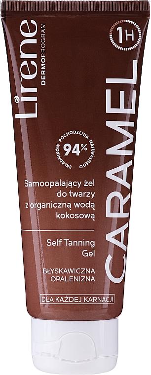 Gel autobronzant à l'eau de coco bio pour visage - Lirene Self Tanning Gel Caramel