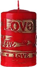 Parfums et Produits cosmétiques Bougie décorative rouge, 7x10 cm - Artman Lovely