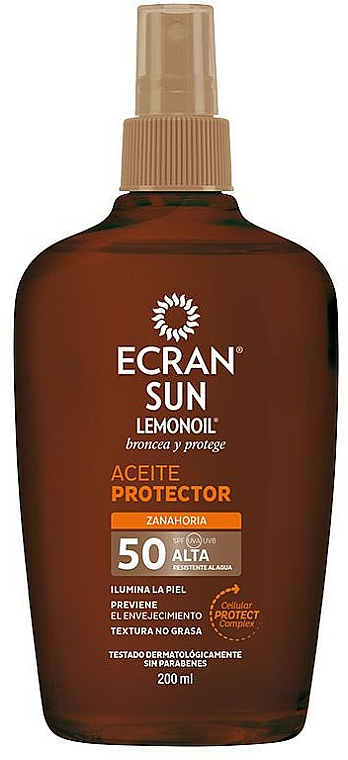 Spray d'huile sèche solaire pour corps - Ecran Sun Lemonoil Oil Spray SPF50 — Photo N1