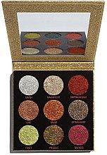 Parfums et Produits cosmétiques Palette de paillettes pressées - Makeup Revolution Pressed Glitter Palette Midas Touch