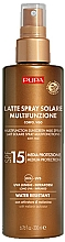 Parfums et Produits cosmétiques Lait solaire waterproof pour visage et corps SPF 15 - Pupa Multifunction Sunscreen Milk Spray