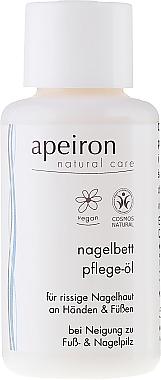 Huile à l'huile de jojoba pour mains et ongles - Apeiron Nail Bed Oil — Photo N1