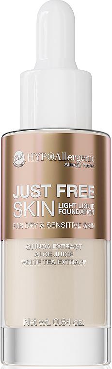 Fond de teint liquide à l'extrait de thé blanc - Bell Just Free Skin Light Liquid Foundation