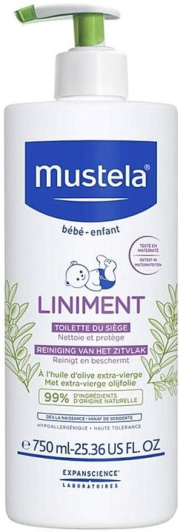 Soin nettoyant naturellement doux, sans parfum pour bébé, dès la naissance - Mustela Bebe Liniment