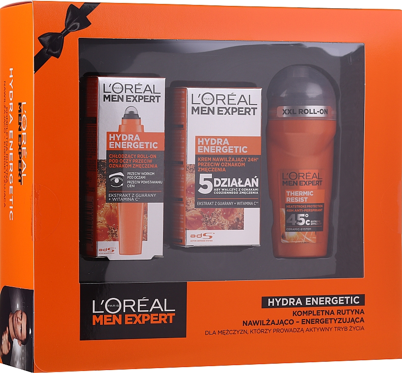 Coffret cadeau - L'Oreal Paris Men Expert (deo/50ml + cr/50ml + eye/roller/10ml) — Photo N1