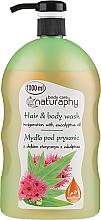 Parfums et Produits cosmétiques Shampooing et gel douche à l'huile d'eucaliptus - Bluxcosmetics Naturaphy Eucalyptus Oil Hair & Body Wash