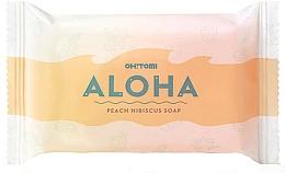 Parfums et Produits cosmétiques Savon à la glycérine, Pêche et Hibiscus - Oh!Tomi Aloha Peach Hibiscus Soap