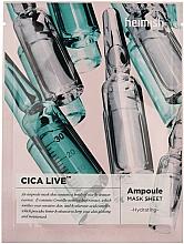 Parfums et Produits cosmétiques Masque tissu d'ampoule à la centella asiatica pour visage - Heimish Cica Live Ampoule Mask