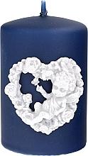 Parfums et Produits cosmétiques Bougie décorative 7x10cm, bleu marine - Artman Amore