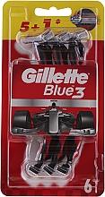 Parfums et Produits cosmétiques Lot de 6 rasoirs jetables - Gillette Blue III Red and White
