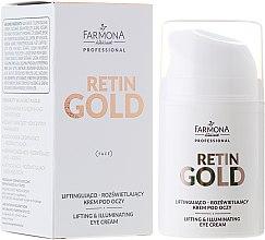 Parfums et Produits cosmétiques Crème pour contour des yeux - Farmona Professional Retin Gold Lifting & Illuminating Eye Cream
