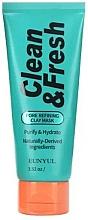 Parfums et Produits cosmétiques Masque à l'argile et thé vert pour visage - Eunyul Clean & Fresh Pore Refining Clay Mask