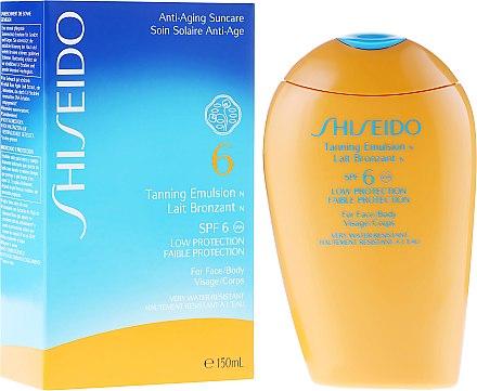 Lait bronzant waterproof pour corps et visage - Shiseido Suncare Tanning Emulsion N SPF 6 — Photo N1