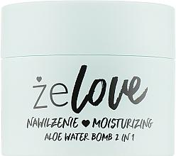 Gel de soin au jus d'aloe vera pour visage, cou et décolleté - FlosLek ZeLove Moisturizing Aloe Water Bomb 2in1 — Photo N1