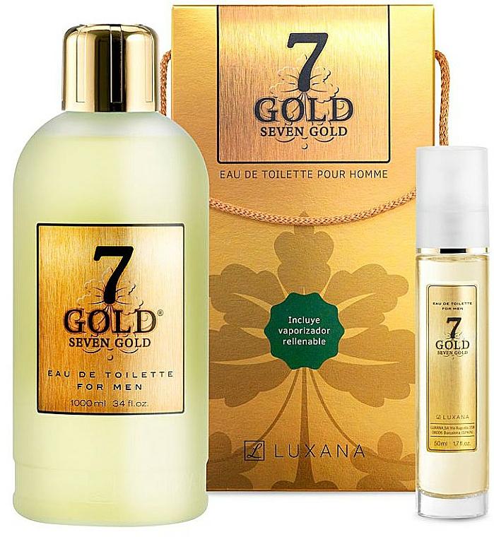 Luxana Seven Gold - Coffret (eau de toilette/1000ml + eau de toilette/50ml) — Photo N1