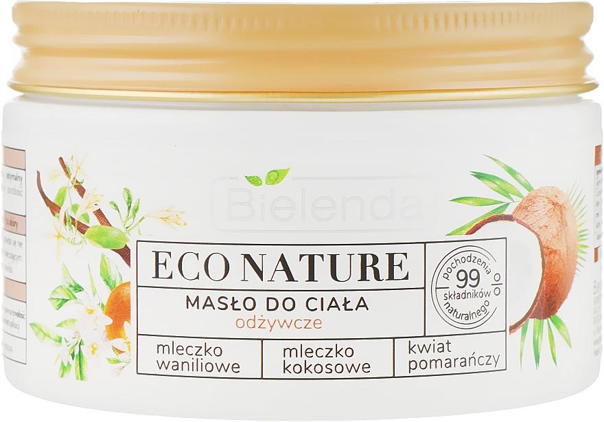 Beurre corporel nourrissant, lait de coco + fleur d'oranger - Bielenda Eco Nature Body Butter Vanilla Coconut Milk Orange Blossom
