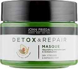 Parfums et Produits cosmétiques Masque à l'huile d'avocat et thé vert pour cheveux - John Frieda Detox & Repair Masque