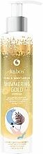 Parfums et Produits cosmétiques Lotion scintillante pour mains et corps, Or - Kabos Shimmering Gold Hand & Body Lotion