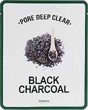 Parfums et Produits cosmétiques Masque tissu noir au charbon actif pour nettoyage profond des pores - A'pieu Pore Deep Clear Black Charcoal Mask